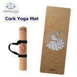 100% Eco Natural Rubber Cork Yoga Mat Custom Laser Engraved or Transfer Printed Cork Yoga