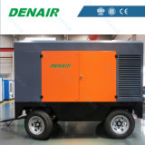 14 Bars Diesel Engine Movable Screw Air Compressor China Supplier