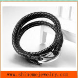 High Quality Titanium Steel Leather Rope Bracelet Wholesale Accessories (BL2860)
