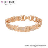 74991 Fashion 18K Gold Costume Jewelry Women Bracelet with Stone
