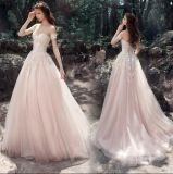 Lace Formal Bridal Gown Blush Tulle Wedding Dress 2018 A134