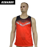 100% Polyester Custom Design Printed Dri Fit Gym Tank Top