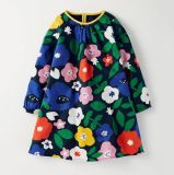 Baby Girls Cotton Longsleeve Casual Dress Cartoon Animal for Kids 3-8yrs