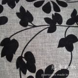 Flocking Polyester Linen Imitated Sofa Fabric