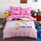 100% Cotton Printed Bed Sheet Set, 4PCS Per Set