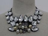 Fashion Costume Jewelry Bead Crystal Pearl Chunky Choker Necklace (JE0083)