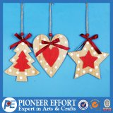 Christmas Mini Tree Heart and Star Shaped Design for Hanging Ornament