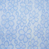 Blue Color Elastic Swiss Fabric Lace (NF1007)
