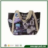 Cute Tote Canvas Handbag with Mickey Patterns