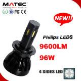 96W 9600lm LED Head Car Light LED H7 Philips Car Headlights H4 H7 H11 9005 9006