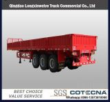 3-Tri-Axle 20-40FT 40-60ton Cargo Flatbed Container Semi-Trailer