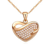 Heart Pave Setting 925 Sterling Silver Pendant Fashion Jewelry