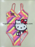Lovely Kitty One Piece Swimwear for Baby Girl/Baby, Kids Swimsuit