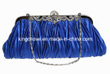2014 Blue Satin with Metal Frame Fashion Evening Bag / Fashion Bag (KCE03)