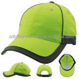 Outdoor Reflective 100% Polyester Neon High Visibility Baseball Cap (TMB0682)