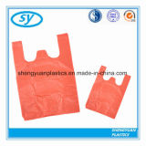 Custom Recyclable Printed Colorful Plastic T-Shirt Bags for Shopping