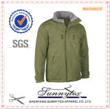 Mens Design Winter Padded Fleece Fabric Polo Jacket