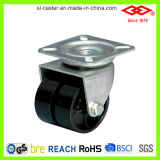 Black Nylon Twin Wheel Caster (P190-20B050X17D)