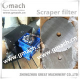 Scraper Type Melt Filter for Plastic Granulating Extrusion Line