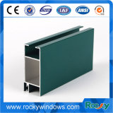Colored Powder Coated Aluminum Window Extrusions Profiles