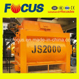 High Quality Js2000 Twin Shaft Concrete Mixer, Forced Cement Mixer for Sale