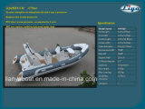 Liya 17 Feet 10 Persons Hypalon Rib Boats PVC Semi Rigid Hull Inflatable Boat for Sale