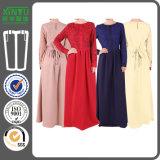 2016 Women Muslim Lace Chiffon Long Sleeve Maxi Abaya Kaftan