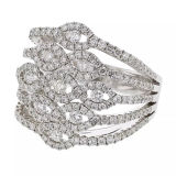 Hot Sales 925 Sterling Silver Rings Silver Jewelry with CZ