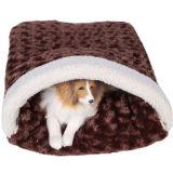 Stripe Canvas Fabric Soft Fleece Pet Beds