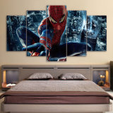 5 Pieces Spiderman Painting Canvas Wall Art Picture Home Decor Living Room Canvas Print Modern Painting Kid Room Wall Decoration