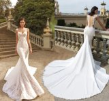 2018 Backless Bridal Gowns Mermaid Lace Tulle Wedding Dress Ld181