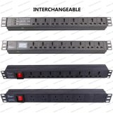 19 Inch Interchangeable Type Universal Socket Network Cabinet and Rack PDU (1)