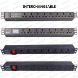 19 Inch Interchangeable Type Universal Socket Network Cabinet and Rack PDU (1)