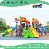 2018 New Design Outdoor Mushroom House Children Slide Playground Equipment with Animal (H17-A9)