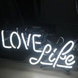 Neon Signs Lights Love Life for Room, Beer Bar Poster