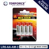 Mercury&Cadmium Free China Factory Digital Alkaline Battery (LR6/AA/AM3)