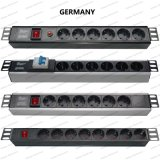 19 Inch Germany Type Universal Socket Network Cabinet and Rack PDU