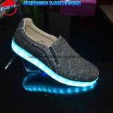 2018 Latest Design Rechargealbe Men Light Shoes with Giltter