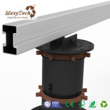 Raised WPC Marble/Tiles Supporting Adjustable Plastic Pedestal with Decking