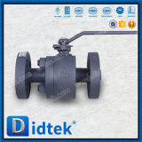 Didtek Forged Cast Steel Metal Seated Floating Ball Valve with Lever