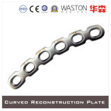 Curved Reconstruction Plate Made of Titanium or Stainless Steel (Ti/SS)