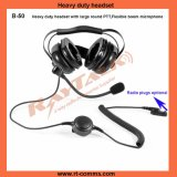 Two Way Radio Heavy Duty Headsets Race Headset with Noise Cancelling Headset Microphone for Motorola 2 Pin Walkie Talkie