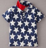 2015 Summer Lated Design Children′s Cotton Boy Polo T-Shirts with Full Print