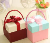 Lovely Portable Square Gift Box with Bowknot for Wedding and Birthday Application, Candy Gift Box, Apple Box