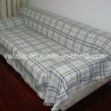 Classic Simplicity of High-Grade Thick Plaid Chenille Sofa Cover
