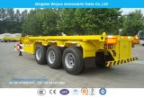 3 Axle 30.5 Tons Semi Truck Trailer Skeleton Container Chassis