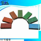 High Density Bright EPDM Outdoor Rubber Brick