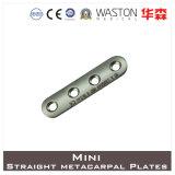 Titanium or Ss Mini Straight Metacarpal Plate