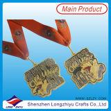 UK 5k and 10k Newest Design Run Race Medal Custom Sports Half Marathon Medal with Giltter Medal Ribbon (lzy-201300253)