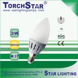 25000hrs Aluminum Plastic 3W C37 LED Candle Bulb